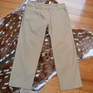 New York & Company Khaki Stretch Capris
